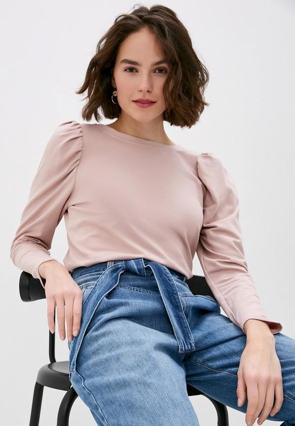 женский лонгслив miss miss by valentina, розовый