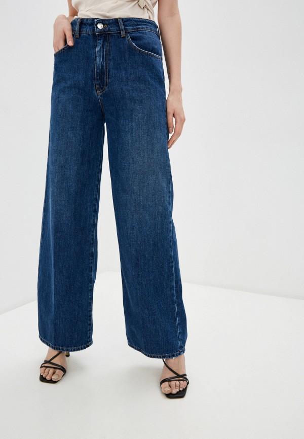 женские джинсы клеш miss miss by valentina, синие