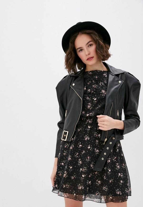 женская куртка miss miss by valentina, черная