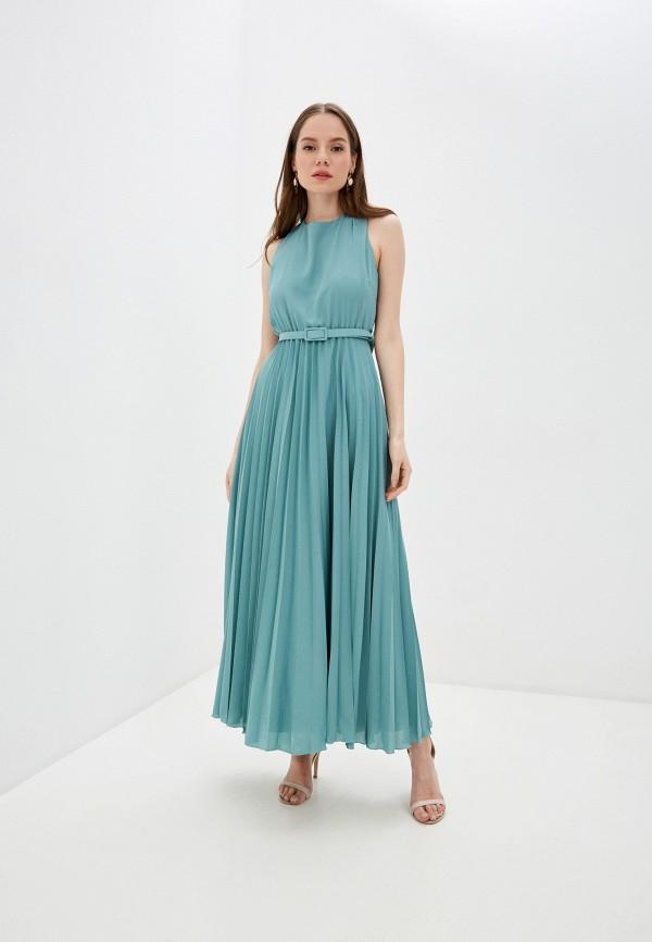 женское вечерние платье miss miss by valentina, бирюзовое