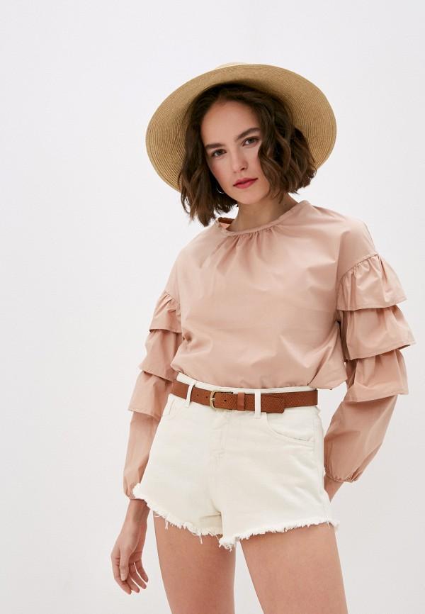 женская блузка miss miss by valentina, розовая