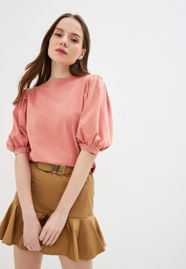 женская футболка miss miss by valentina, розовая