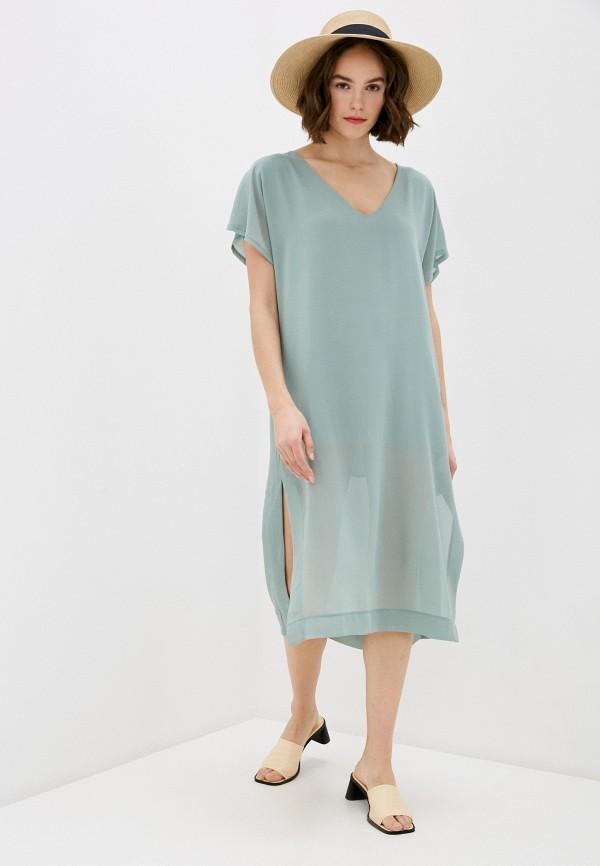 женское повседневные платье miss miss by valentina, бирюзовое