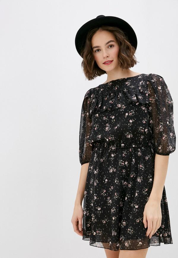 женское повседневные платье miss miss by valentina, черное