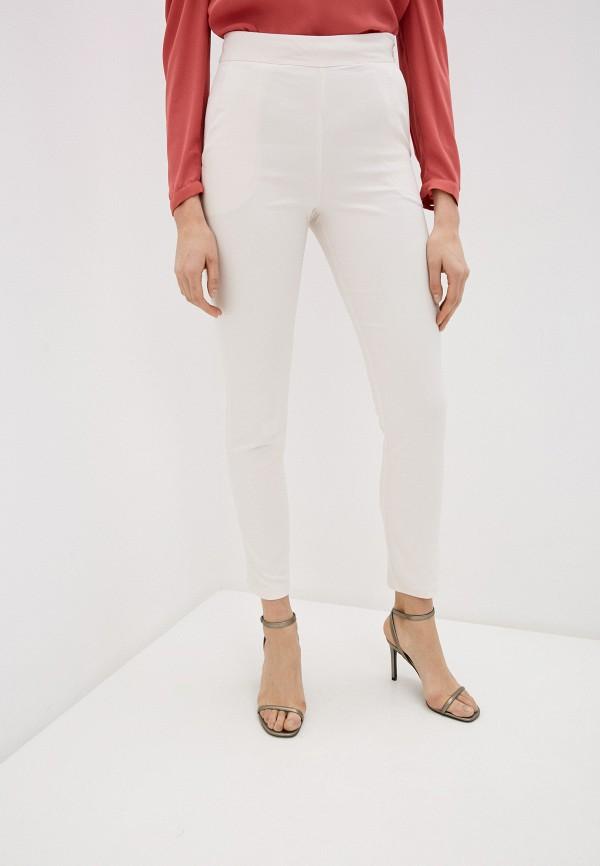 женские повседневные брюки miss miss by valentina, белые