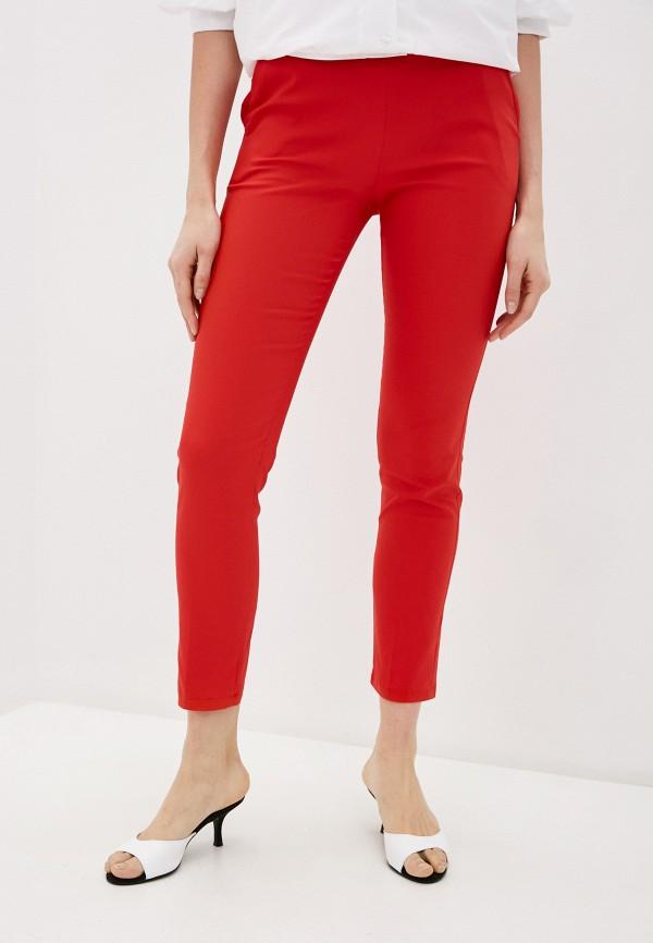 женские повседневные брюки miss miss by valentina, красные