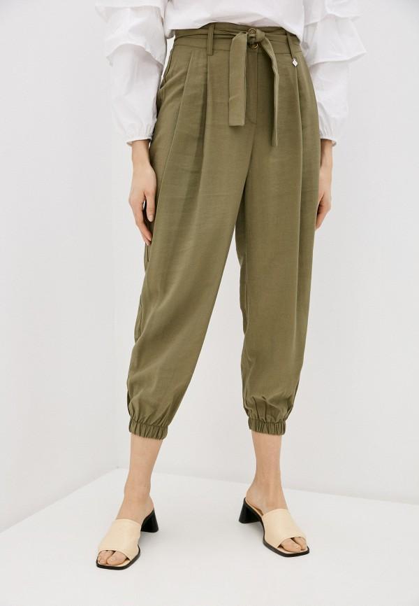 женские повседневные брюки miss miss by valentina, хаки
