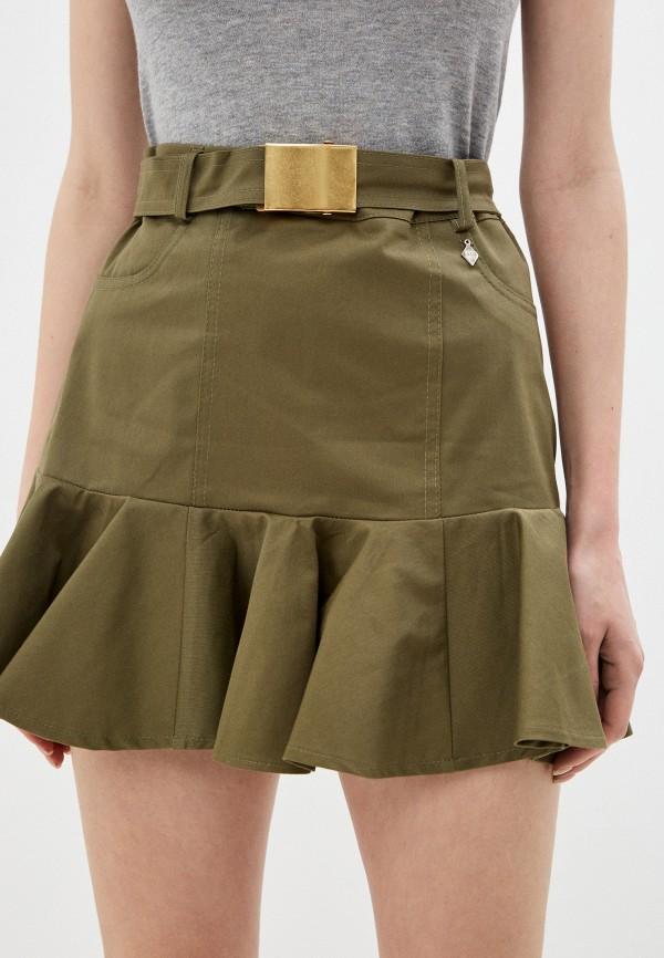 женская юбка miss miss by valentina, хаки