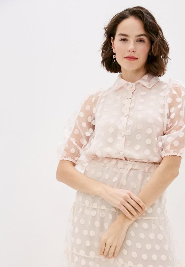 женское повседневные платье miss miss by valentina, розовое
