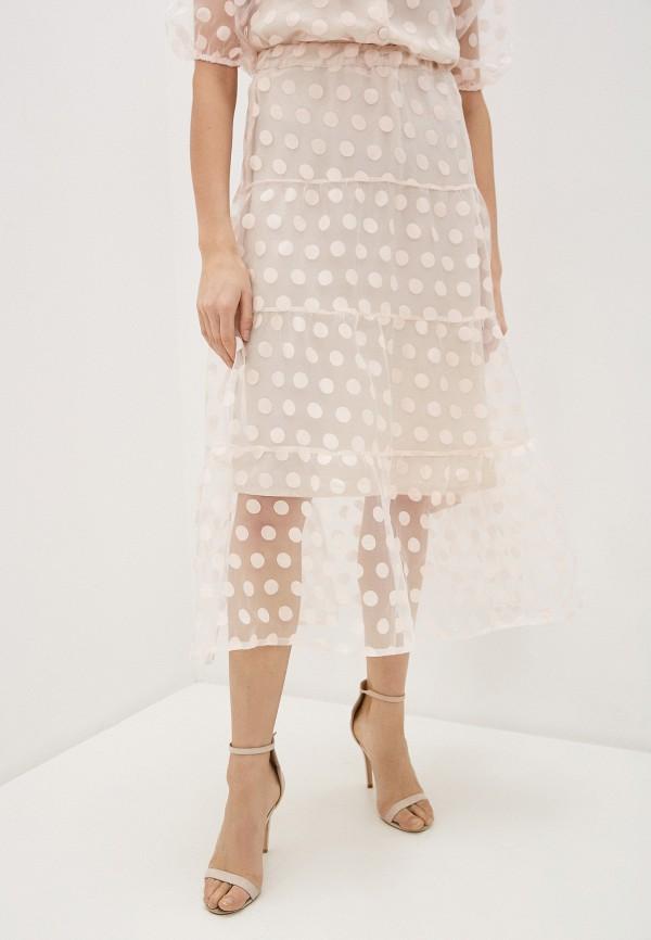 женская юбка miss miss by valentina, розовая