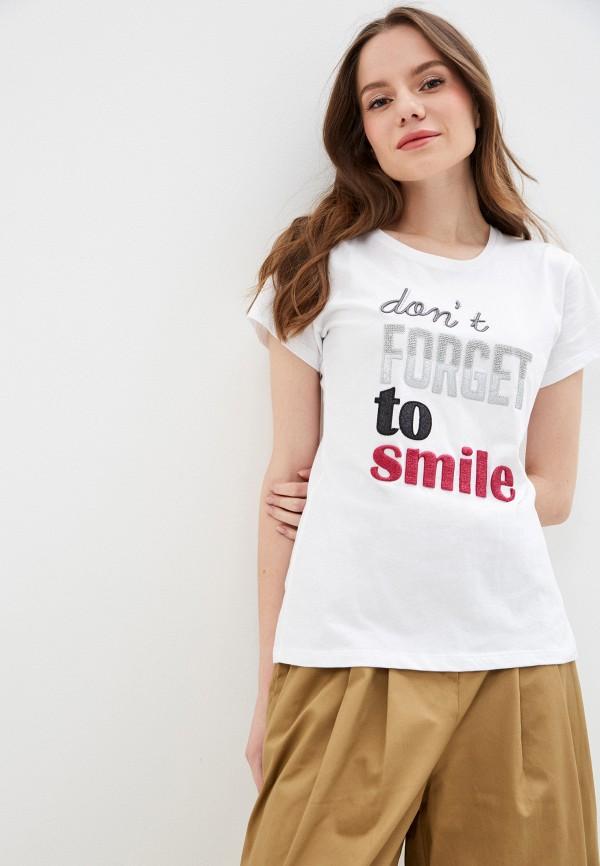 женская футболка miss miss by valentina, белая