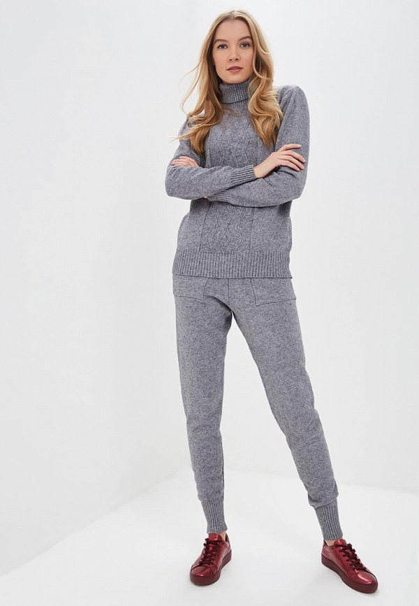 женский костюм miss gabby, серый