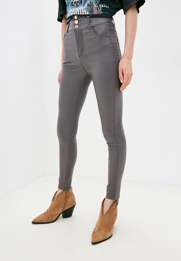 женские джинсы скинни miss gabby, серые