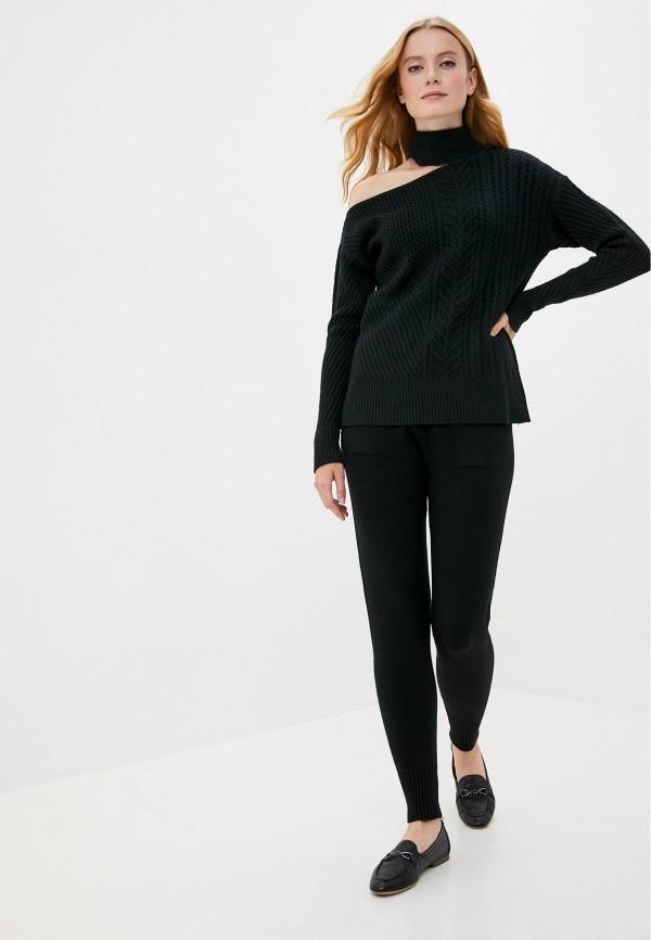 женский вязаные костюм miss gabby, черный