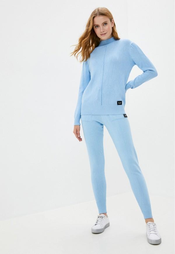 женский вязаные костюм miss gabby, голубой