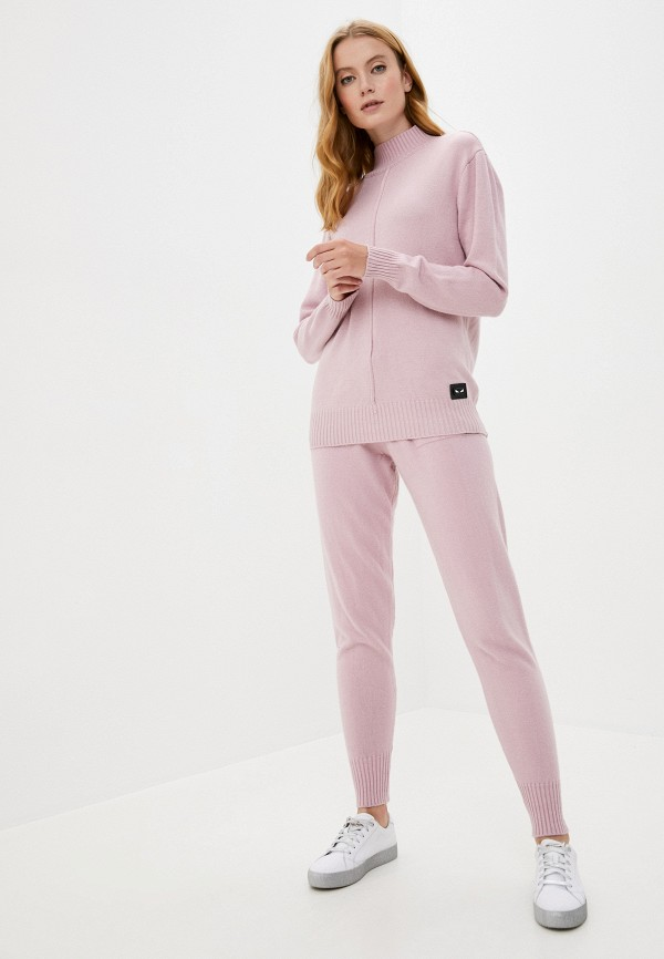 женский вязаные костюм miss gabby, розовый