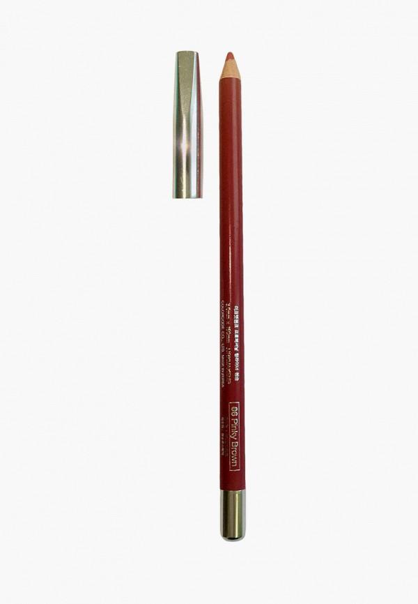 женский карандаш для губ mikatvonk, коричневый