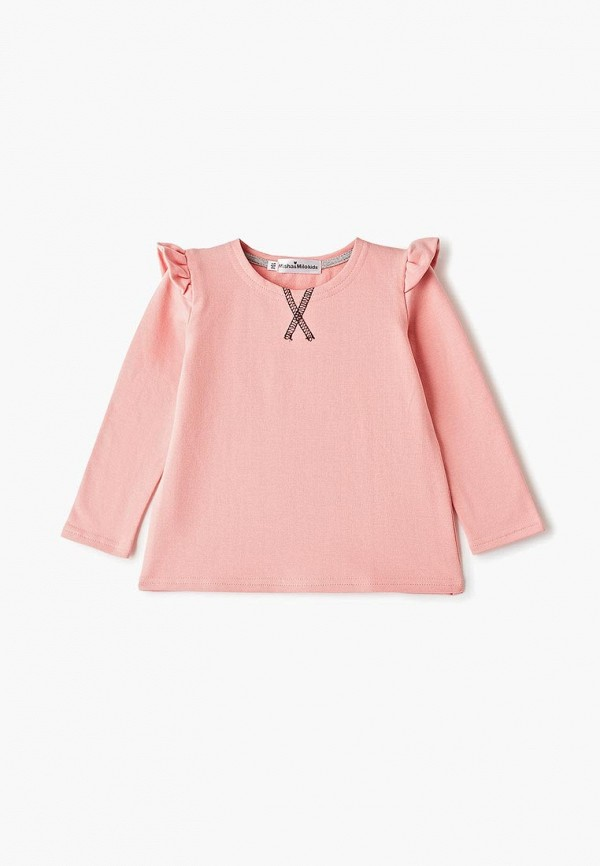 свитшот misha & milo для девочки, розовый
