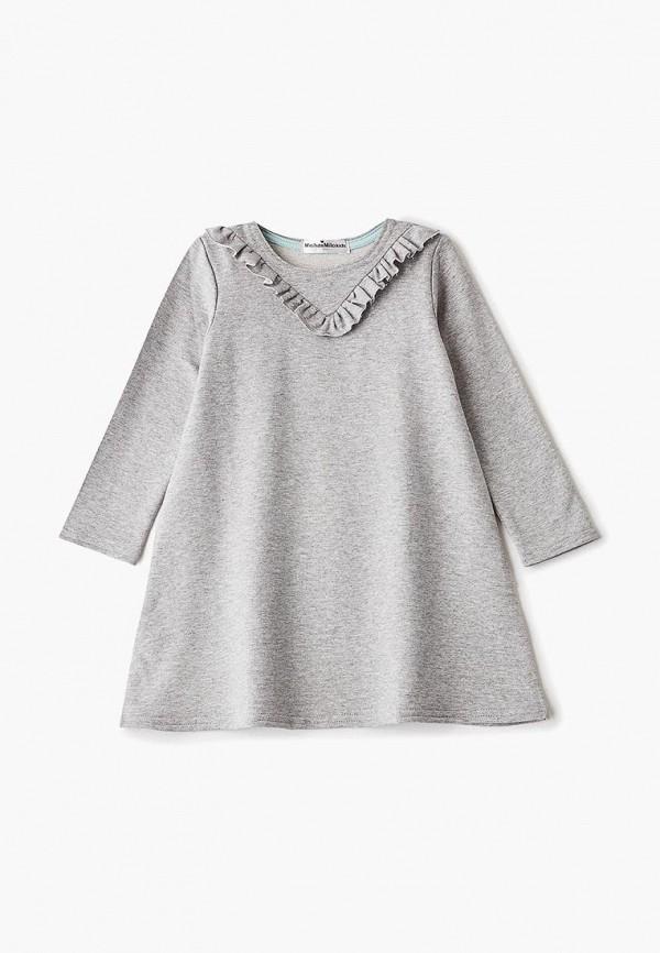 платье misha & milo для девочки, серое