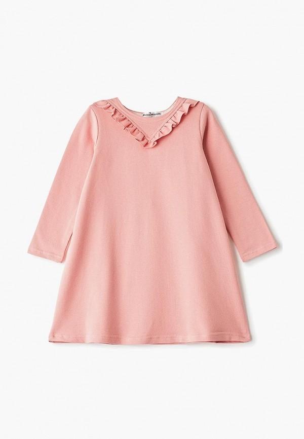 повседневные платье misha & milo для девочки, розовое