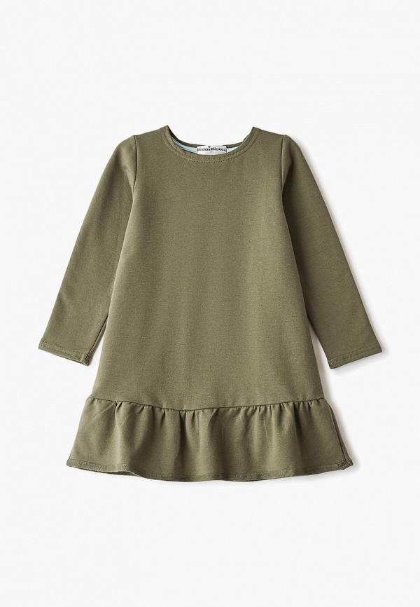 повседневные платье misha & milo для девочки, зеленое