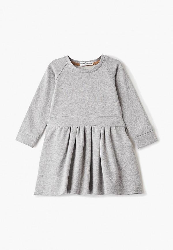 повседневные платье misha & milo для девочки, серое