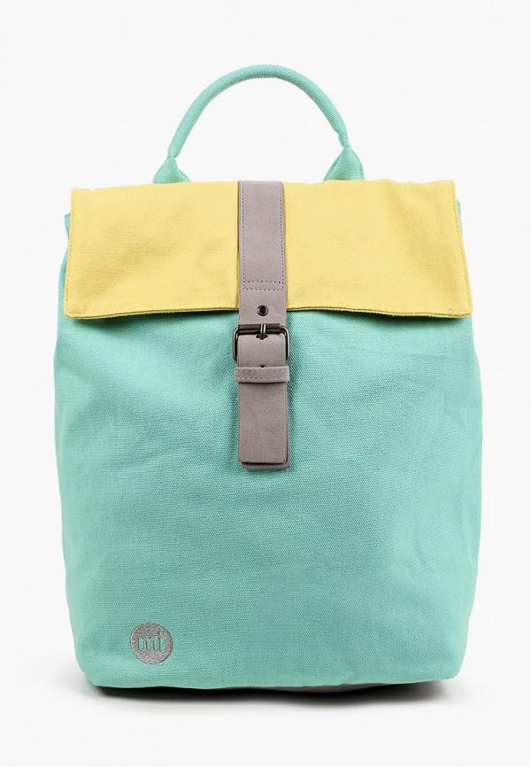 женский рюкзак mi-pac, бирюзовый