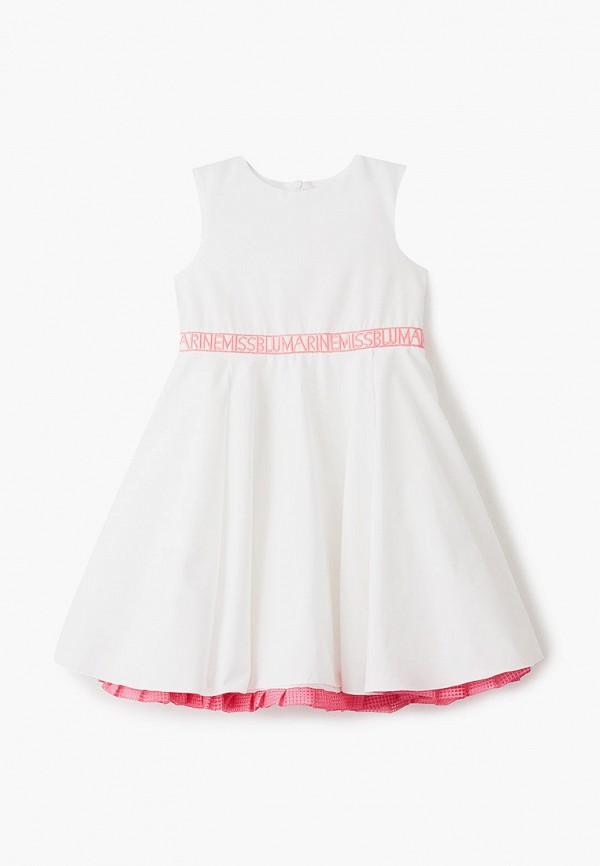 повседневные платье miss blumarine для девочки, белое