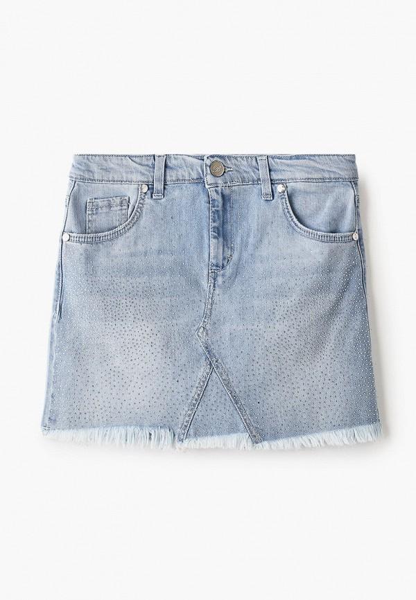 юбка miss blumarine для девочки, голубая