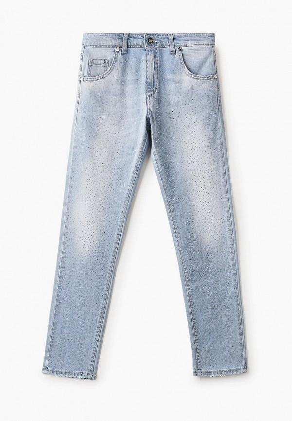джинсы miss blumarine для девочки, голубые