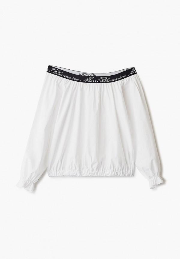 блузка miss blumarine для девочки, белая
