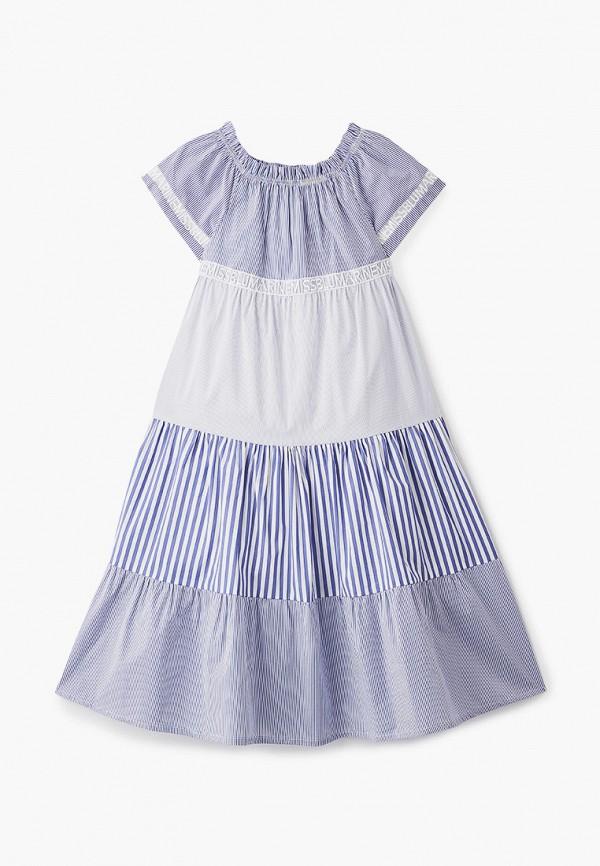 повседневные платье miss blumarine для девочки, голубое