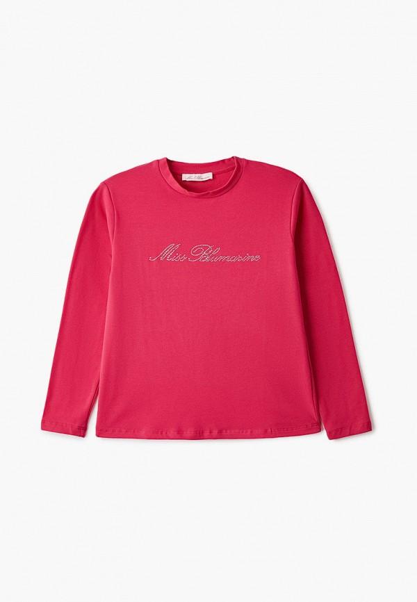 лонгслив miss blumarine для девочки, розовый