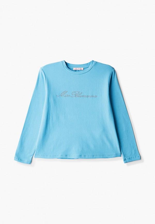 лонгслив miss blumarine для девочки, голубой