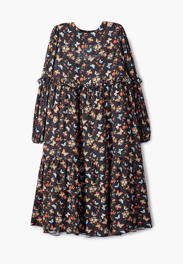 повседневные платье miss blumarine для девочки, черное