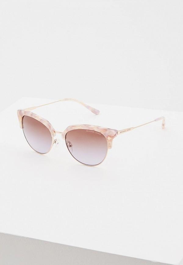 женские солнцезащитные очки michael kors, розовые