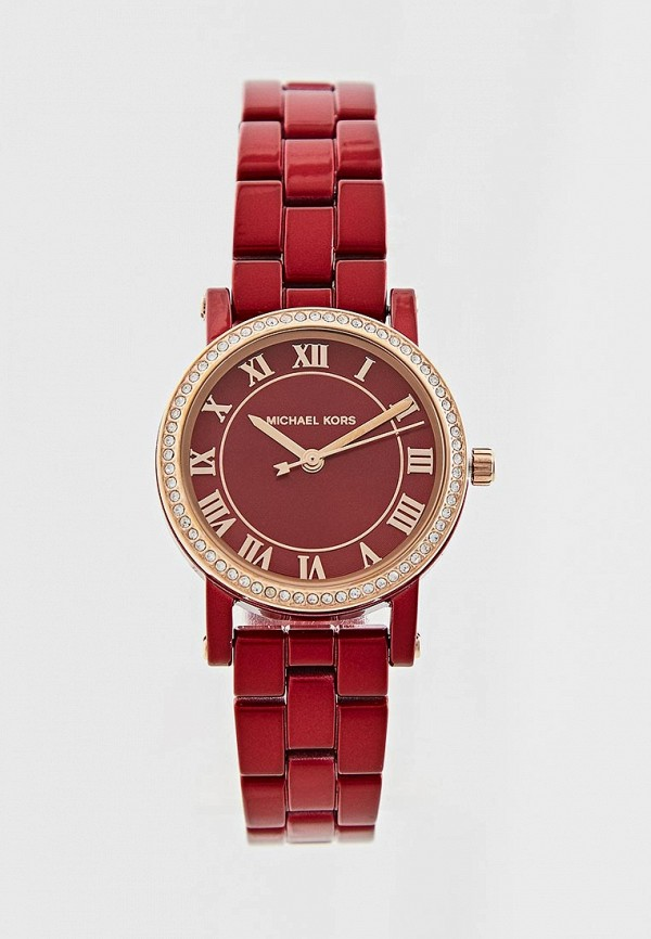 женские часы michael kors, красные