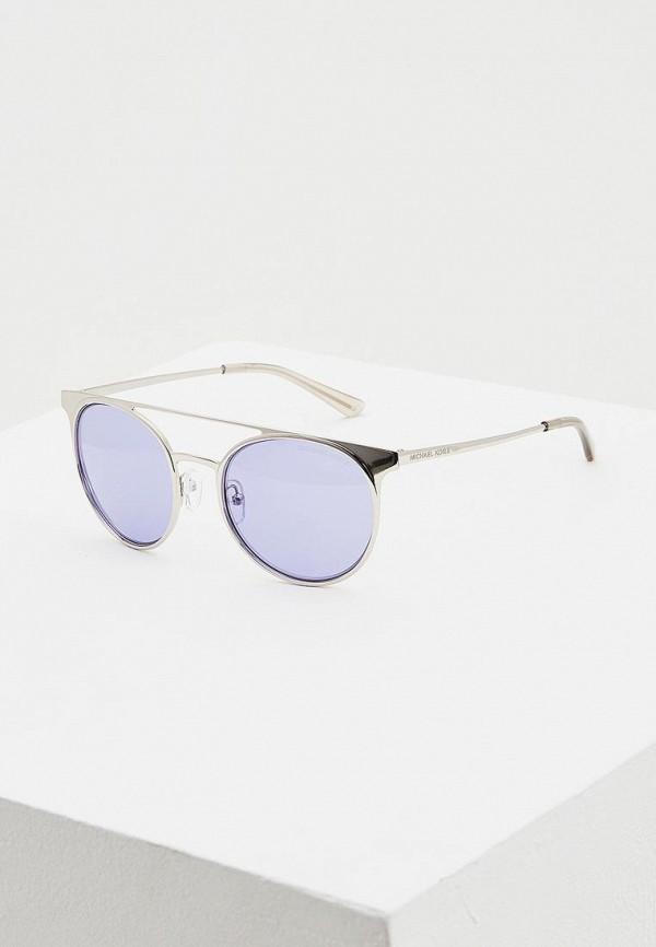 женские солнцезащитные очки michael kors, серебряные