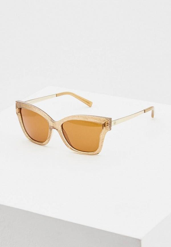 женские солнцезащитные очки кошачьи глаза michael kors, коричневые