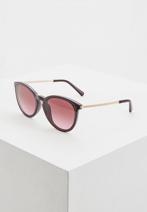 женские солнцезащитные очки michael kors, бордовые