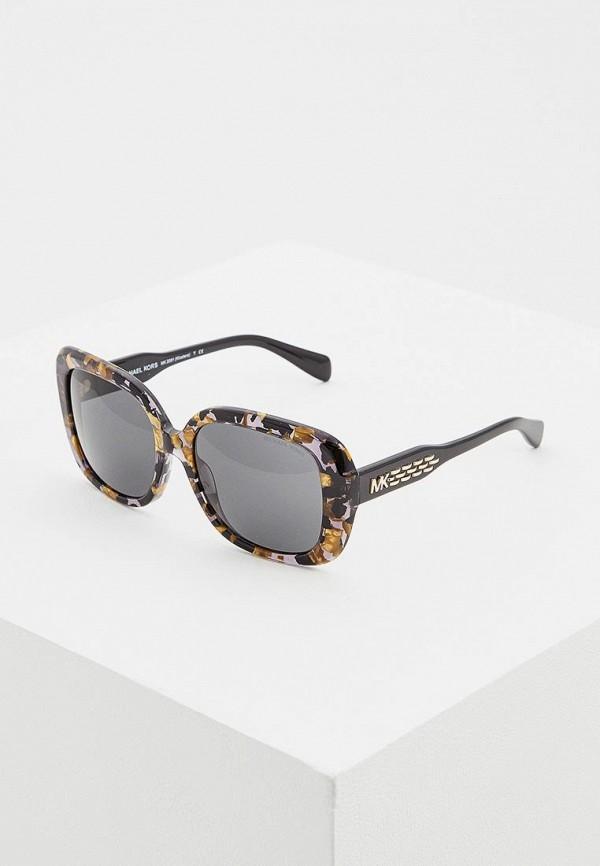 женские квадратные солнцезащитные очки michael kors, разноцветные