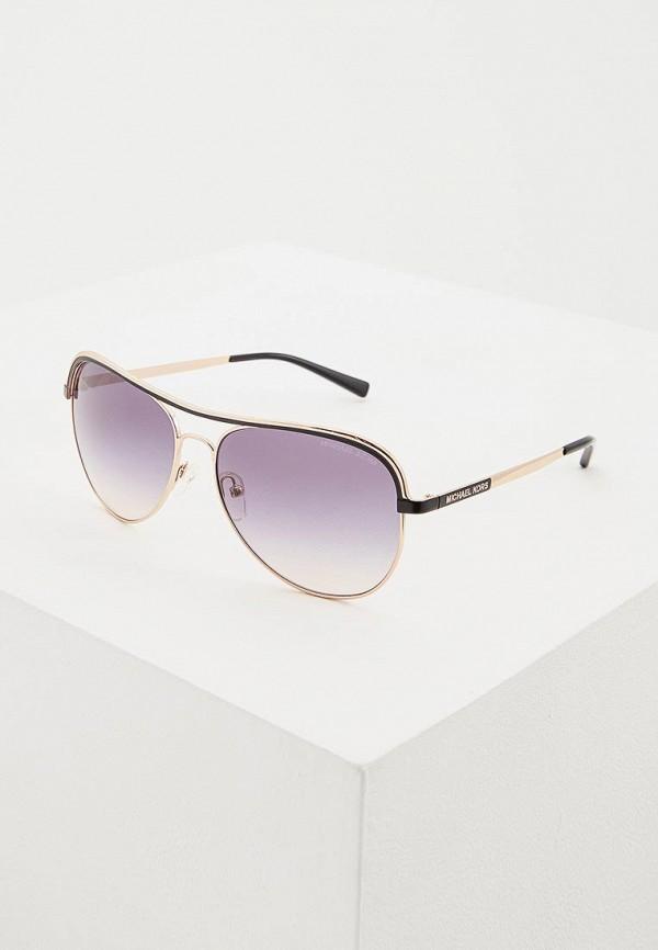 женские солнцезащитные очки michael kors, золотые