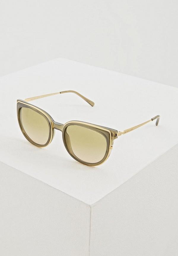 женские солнцезащитные очки кошачьи глаза michael kors, зеленые