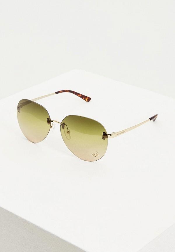 женские авиаторы солнцезащитные очки michael kors, зеленые