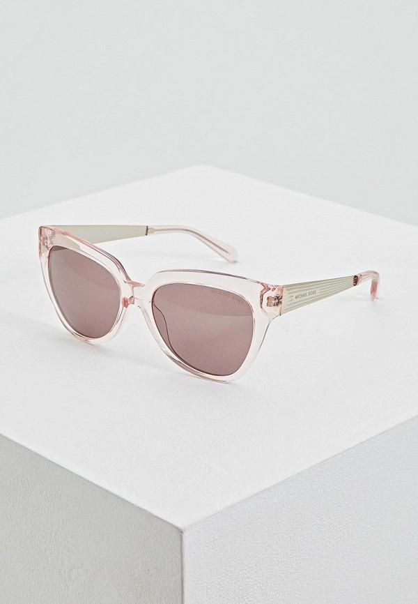 женские солнцезащитные очки кошачьи глаза michael kors, розовые