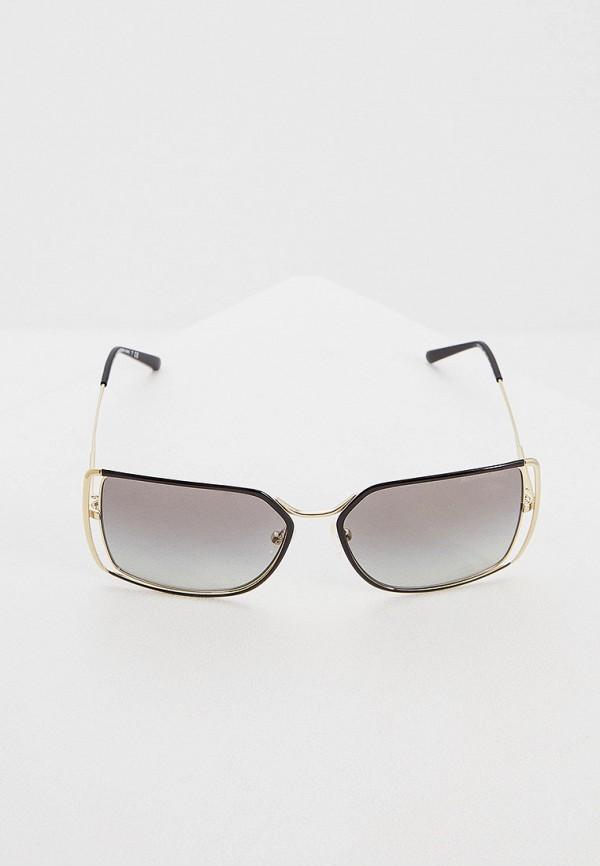 Фото 2 - Очки солнцезащитные Michael Kors золотого цвета
