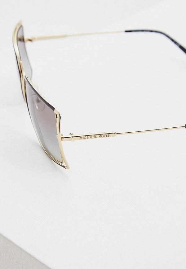 Фото 4 - Очки солнцезащитные Michael Kors золотого цвета
