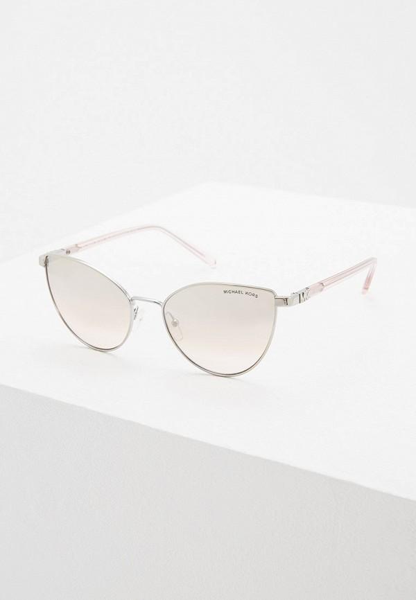 женские солнцезащитные очки кошачьи глаза michael kors, серебряные