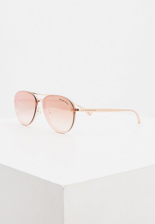 женские авиаторы солнцезащитные очки michael kors, розовые