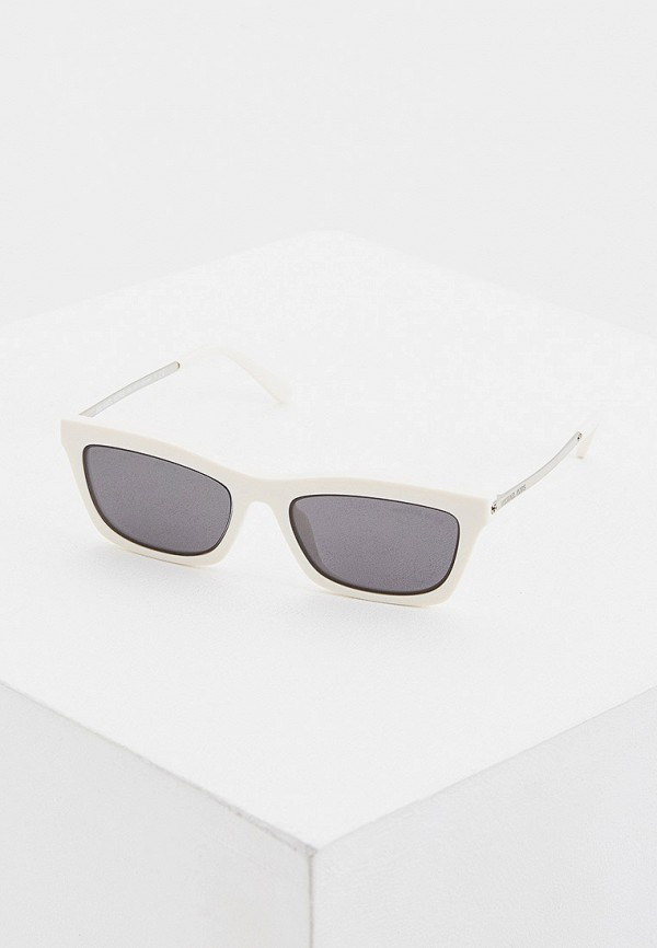 женские квадратные солнцезащитные очки michael kors, белые